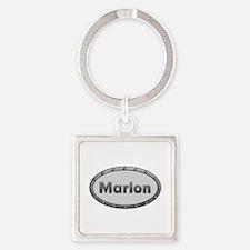 Marlon Metal Oval Square Keychain