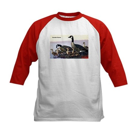 Canadian Goose (Front) Kids Baseball Jersey