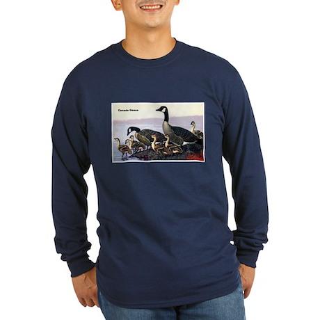 Canadian Goose (Front) Long Sleeve Dark T-Shirt
