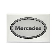 Mercedes Metal Oval Rectangle Magnet 100 Pack