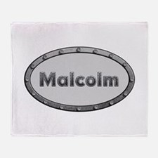 Malcolm Metal Oval Throw Blanket