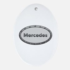 Mercedes Metal Oval Oval Ornament