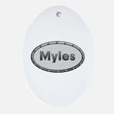 Myles Metal Oval Oval Ornament