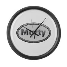 Marty Metal Oval Large Wall Clock