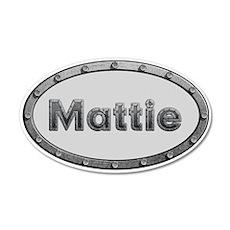 Mattie Metal Oval Wall Decal