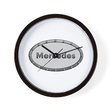 Mercedes Metal Oval Wall Clock