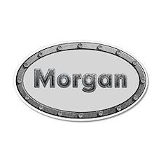 Morgan Metal Oval Wall Decal