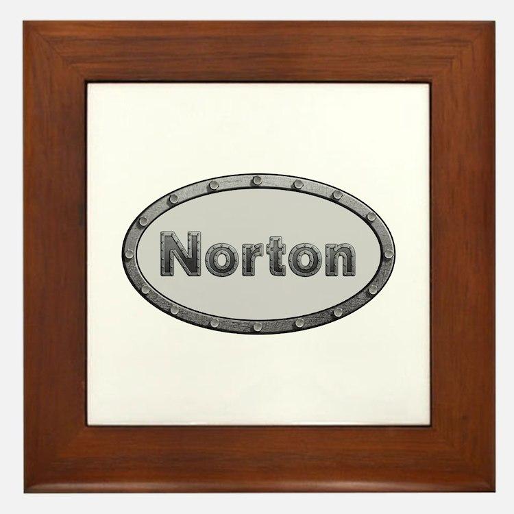 Norton Metal Oval Framed Tile