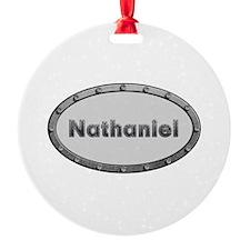 Nathaniel Metal Oval Ornament