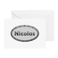 Nicolas Metal Oval Greeting Card