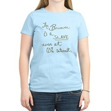 The Borrower is a Slave v.2 Green T-Shirt