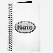Nate Metal Oval Journal