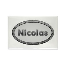 Nicolas Metal Oval Rectangle Magnet 10 Pack