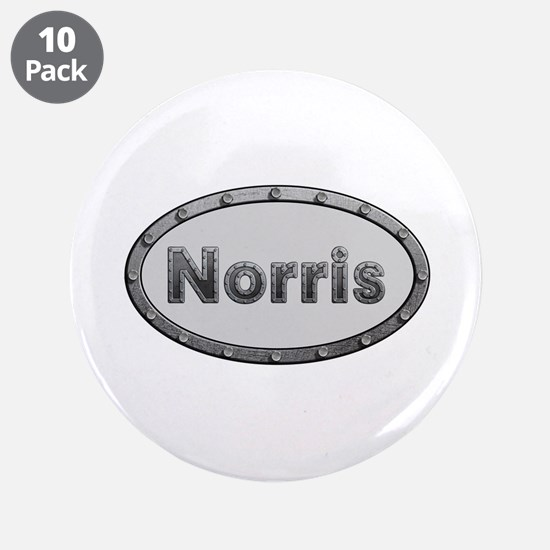 Norris Metal Oval Big Button 10 Pack