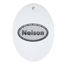 Nelson Metal Oval Oval Ornament