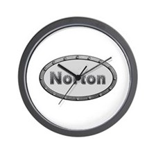 Norton Metal Oval Wall Clock