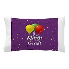 Mardi Gras balloons_black 2 button purple Pillow C