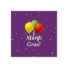 Mardi Gras balloons_black 2 button purple Sticker