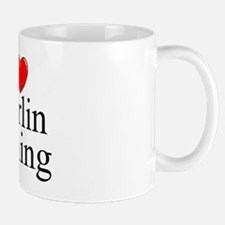 """I Love (Heart) Marlin Fishing"" Mug"