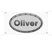 Oliver Metal Oval Banner