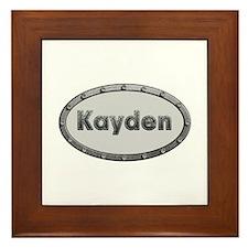 Kayden Metal Oval Framed Tile