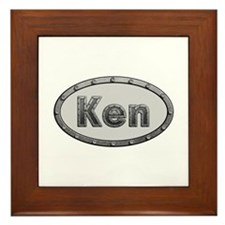 Ken Metal Oval Framed Tile