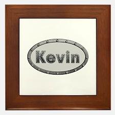 Kevin Metal Oval Framed Tile