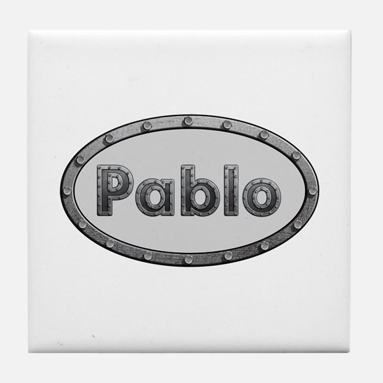 Pablo Metal Oval Tile Coaster