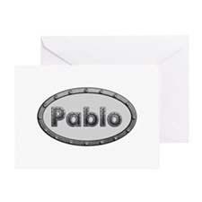 Pablo Metal Oval Greeting Card