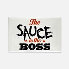 Boss Sauce Rectangle Magnet