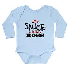 Boss Sauce Long Sleeve Infant Bodysuit