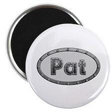 Pat Metal Oval Round Magnet