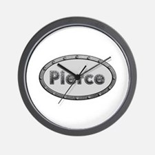 Pierce Metal Oval Wall Clock