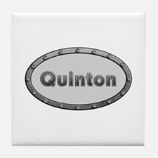 Quinton Metal Oval Tile Coaster