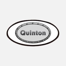 Quinton Metal Oval Patch