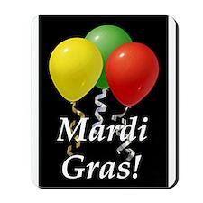 Mardi Gras balloons_black Mousepad