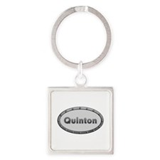 Quinton Metal Oval Square Keychain