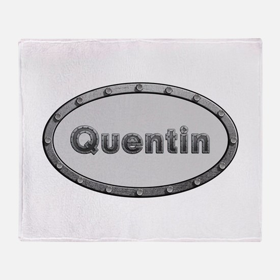 Quentin Metal Oval Throw Blanket