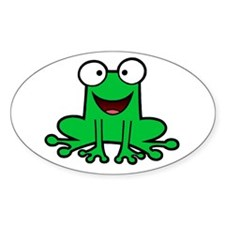 Happy Frog Oval Decal
