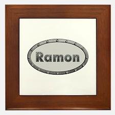 Ramon Metal Oval Framed Tile