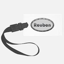 Reuben Metal Oval Luggage Tag