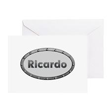Ricardo Metal Oval Greeting Card