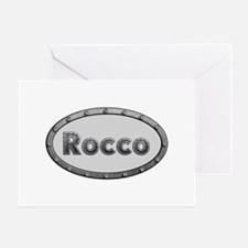Rocco Metal Oval Greeting Card