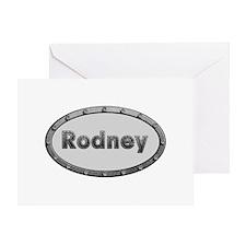 Rodney Metal Oval Greeting Card