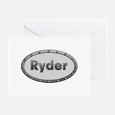 Ryder Metal Oval Greeting Card