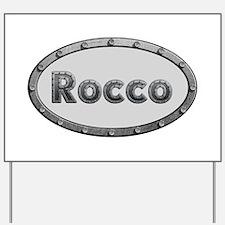 Rocco Metal Oval Yard Sign