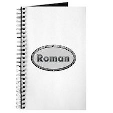 Roman Metal Oval Journal