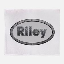 Riley Metal Oval Throw Blanket