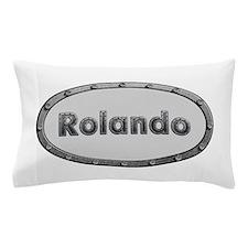 Rolando Metal Oval Pillow Case