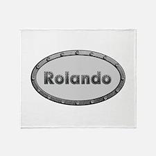 Rolando Metal Oval Throw Blanket